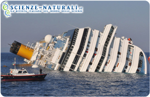 Concordia e distratro ambientale, possibili danni da parte del petrolio ecosistemi in pericolo