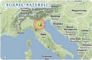 terremoto del 25 gennaio mappa