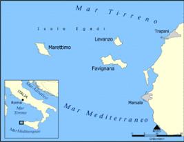 """L'Arcipelago delle Egadi è formato da tre isole, Favignana, Levanto e Marettimo, e da pochi altri isolotti, poco più che scogli, situati tra i 7 chilometri  (Favignana) e i 15 chilometri (Marettimo) di distanza dalla costa occidentale della Sicilia, tra Trapani e Marsala. Le isole erano già conosciute nell'antichità con il nome latino di Aegates, a sua volta ripreso dal greco Aegatae che significa """"Isole delle capre""""."""