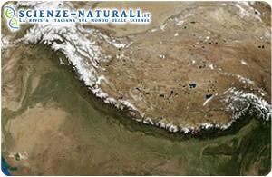 Immagine satellitare della regione Himalayana (fonte NASA)