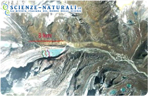 Veduta aerea dell'area himalayana interessata