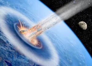 Ricostruzione dell' impatto di un asteroide con la Terra