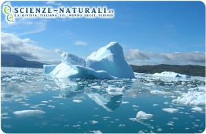 Ghiaccio al largo delle coste della Groenlandia (fonte: ScienceDaily)