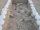 Architettura e impianti di macinazione dall'Area di scavo A di Choga Golan, Iran  (fonte: TISARP / Università di Tubinga)