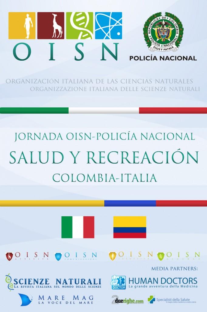 Locandina della I Giornata OISN-Polizia Nazionale Colombiana
