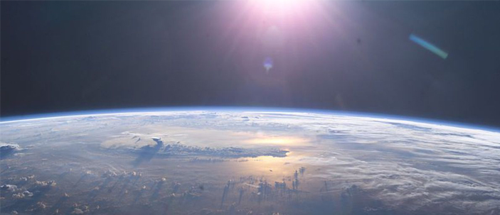 L'Oceano Pacifico visto dalla Stazione Spaziale Internazionale (fonte: NASA)