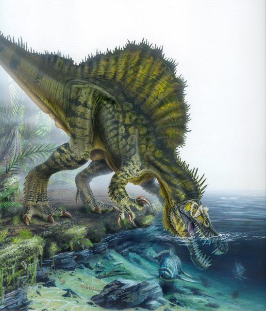Spinosauride durante la caccia