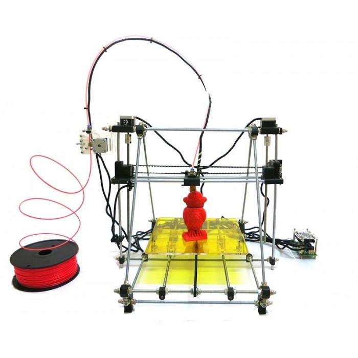 """Una delle tante stampanti 3D Open Source della serie """"RepRap"""": una Prusa Mendel."""