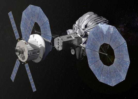"""Il modulo cattura asteroidi a """"pieno carico"""".  (Fonte NASA)"""