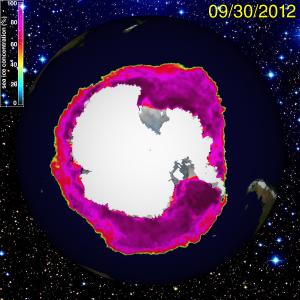 L'Antartide vista dal satellite (fonte: Meteoweb, 2015)