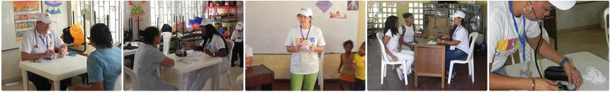 Alcune attivitá medico-scientifiche durante una giornata umanitaria OISN.