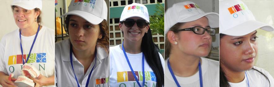 Alcune delle attiviste OISN durante una giornata umanitaria OISN.
